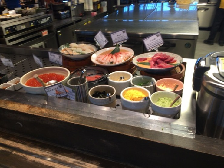 ラビスタ函館ベイ朝食の海鮮