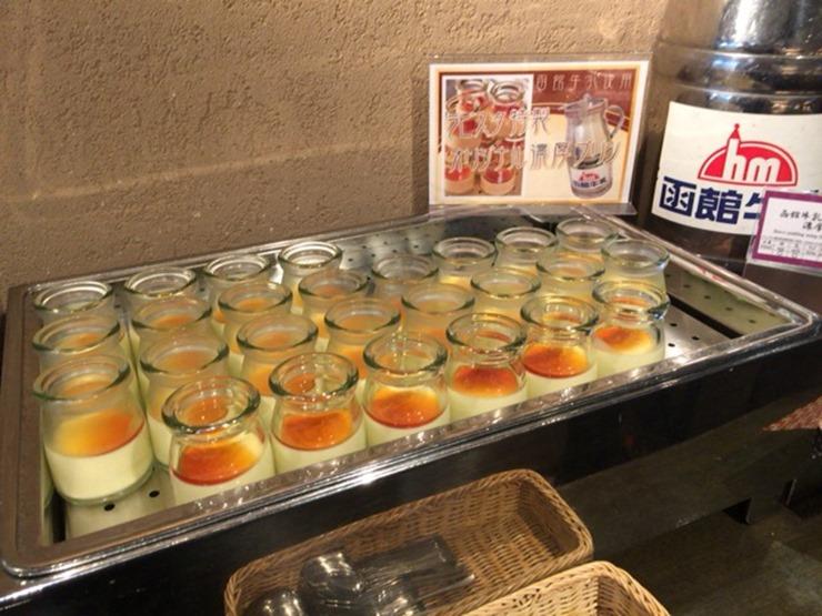 ラビスタ函館ベイ朝食の濃厚プリン